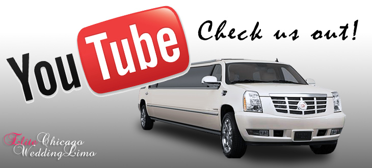 Cadillac limousine and a youtube logo above